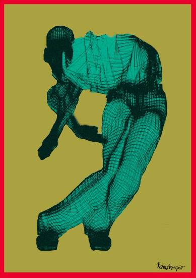 carte de visite homme bleu