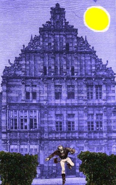 / Photomontage Gravure issue du st Nicolas 1890 ed. DELAGRAVE ( édition rare) utilisé comme visuel de concert
