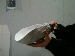 moulage du masque principale qui servira à faire les suivants
