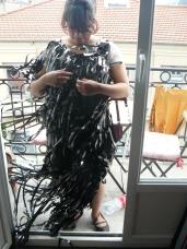 création de costumes, robes en fils vhs